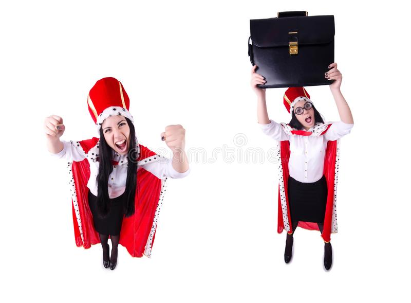 Empresaria de la reina en concepto del negocio fotografía de archivo