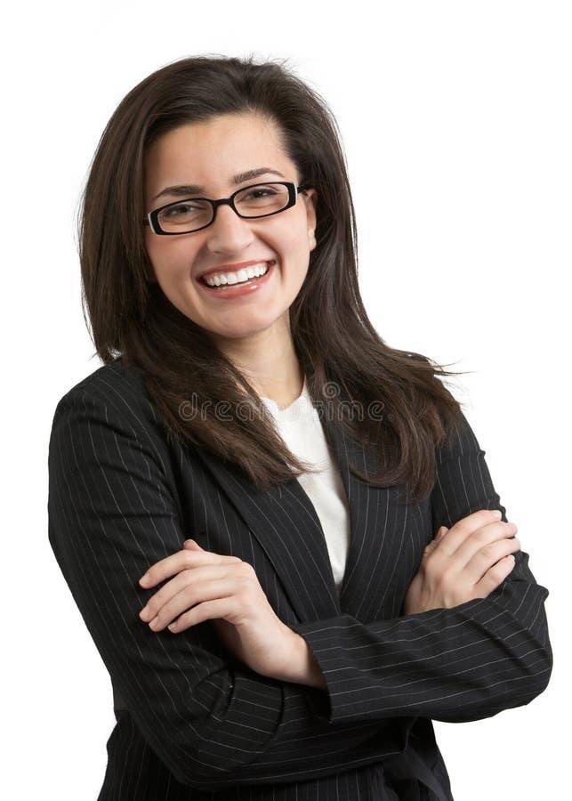 Empresaria de risa fotos de archivo libres de regalías