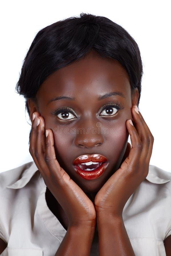 Empresaria del afroamericano foto de archivo