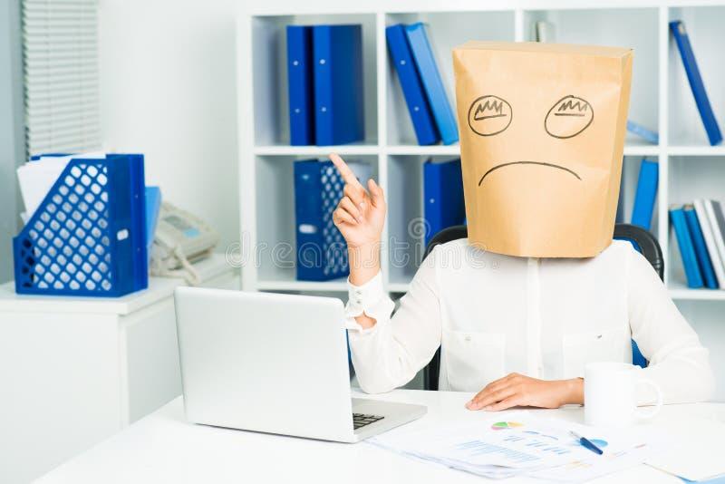 Empresaria deprimida imagen de archivo libre de regalías
