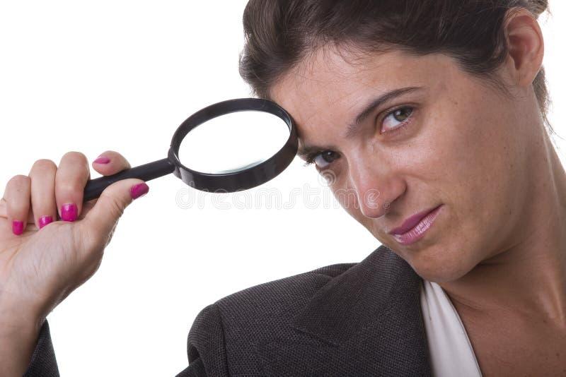 Empresaria detective imagen de archivo libre de regalías