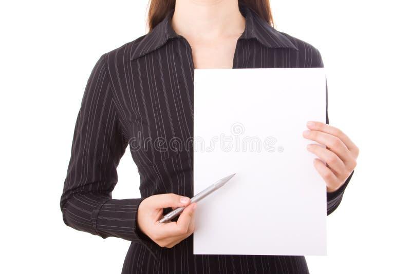 Empresaria elegante imagen de archivo