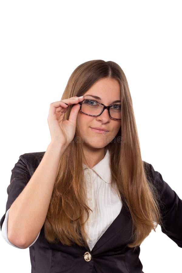 Download Empresaria En La Presentación De Los Vidrios Imagen de archivo - Imagen de aislado, businesswoman: 41905941