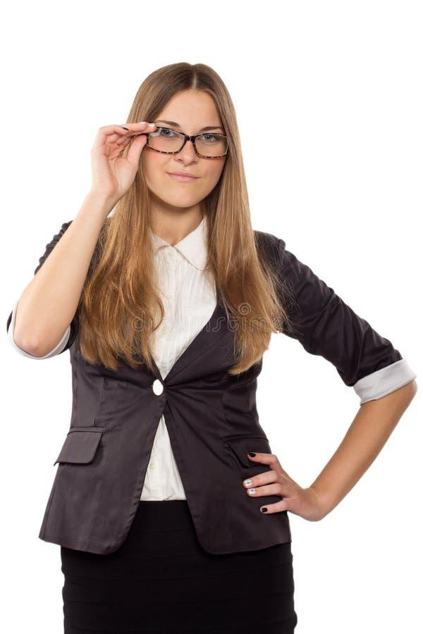 Download Empresaria En La Presentación De Los Vidrios Imagen de archivo - Imagen de businesswoman, trabajador: 41906085