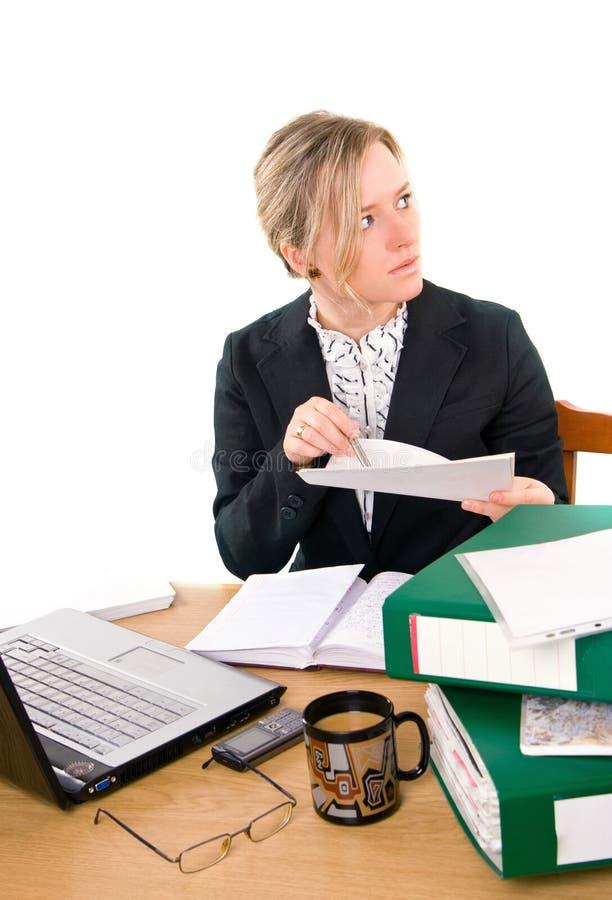 Empresaria en oficina imágenes de archivo libres de regalías