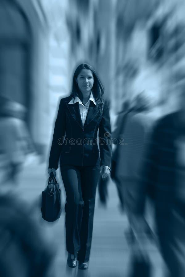 Empresaria en una prisa imagen de archivo
