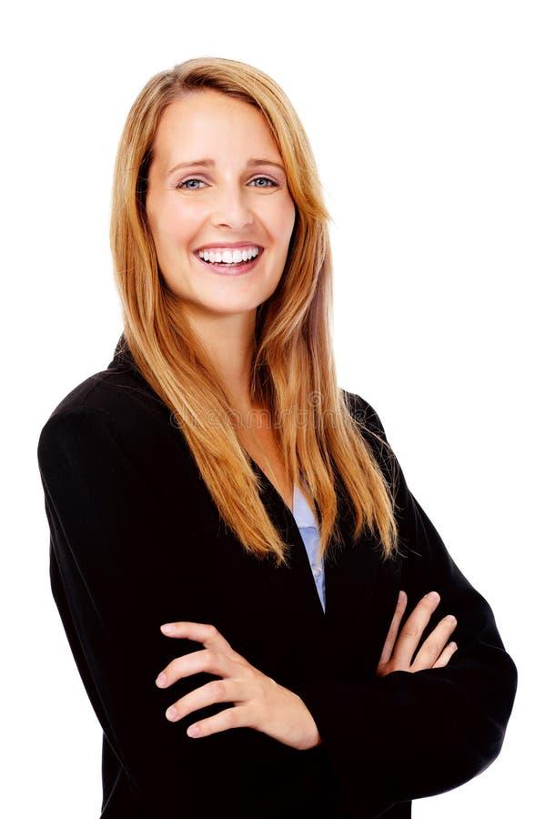 Empresaria feliz foto de archivo libre de regalías