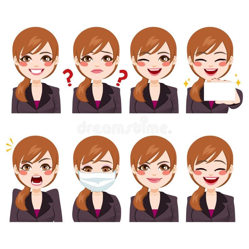 Empresaria Funny Expressions libre illustration