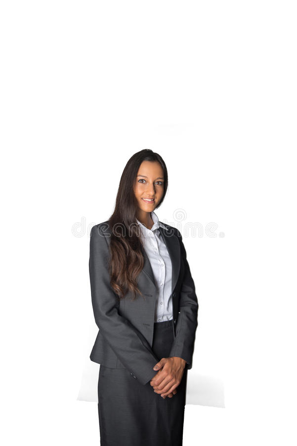 Empresaria india atractiva en una actitud formal foto de archivo