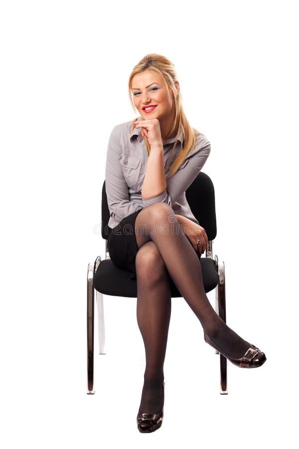 Empresaria joven atractiva fotografía de archivo