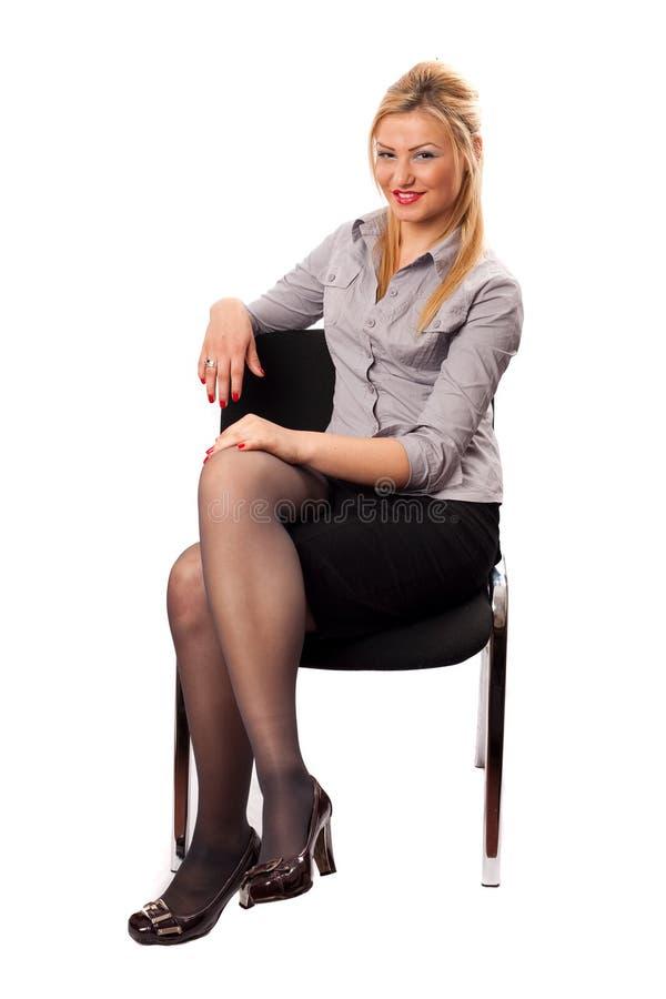 Empresaria joven atractiva fotografía de archivo libre de regalías