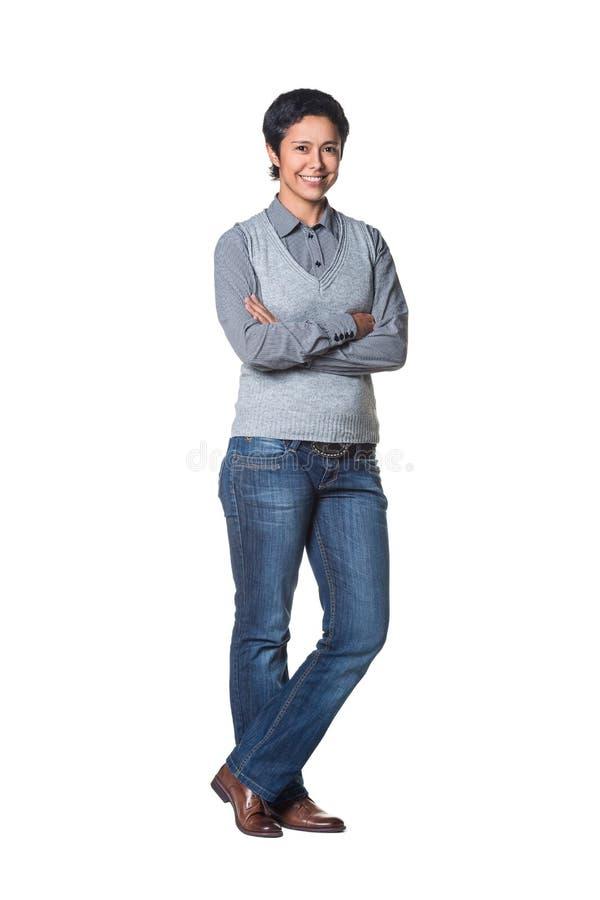 Empresaria joven atractiva foto de archivo libre de regalías