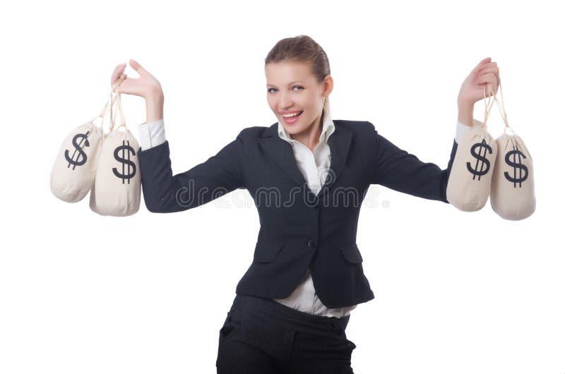 Download Empresaria Joven Con Los Sacos Del Dinero Imagen de archivo - Imagen de moneybag, inversión: 41917205