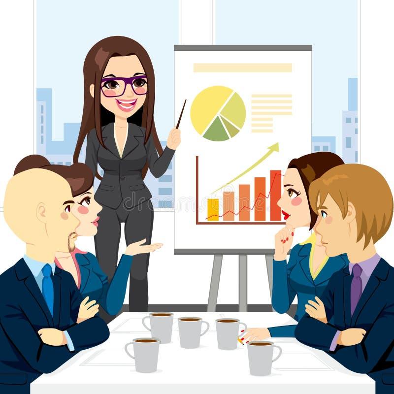 Empresaria Meeting Group ilustración del vector