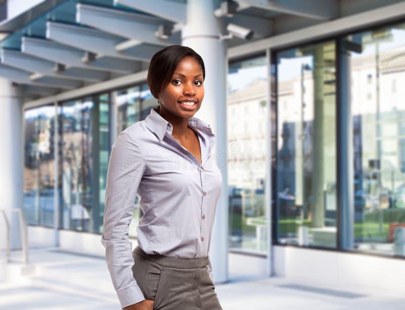 Empresaria negra joven fotos de archivo libres de regalías