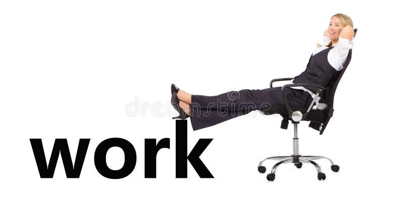 Empresaria Relaxed fotografía de archivo