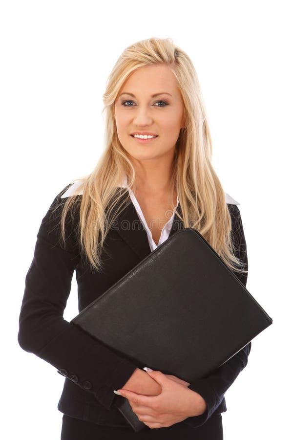 Empresaria sonriente foto de archivo libre de regalías