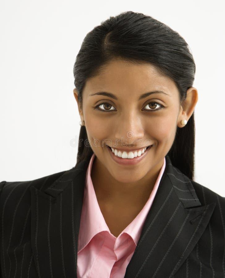 Empresaria sonriente. imagenes de archivo