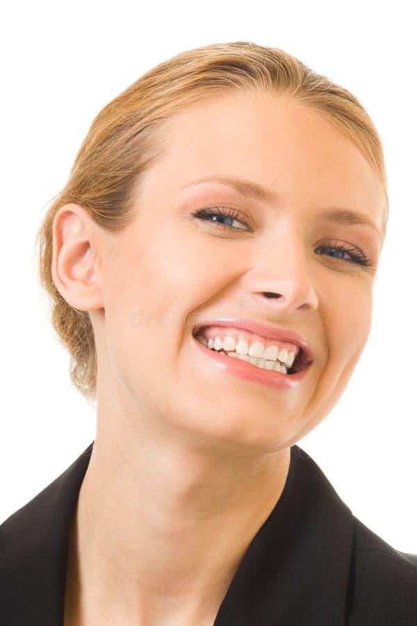 Empresaria sonriente feliz fotografía de archivo