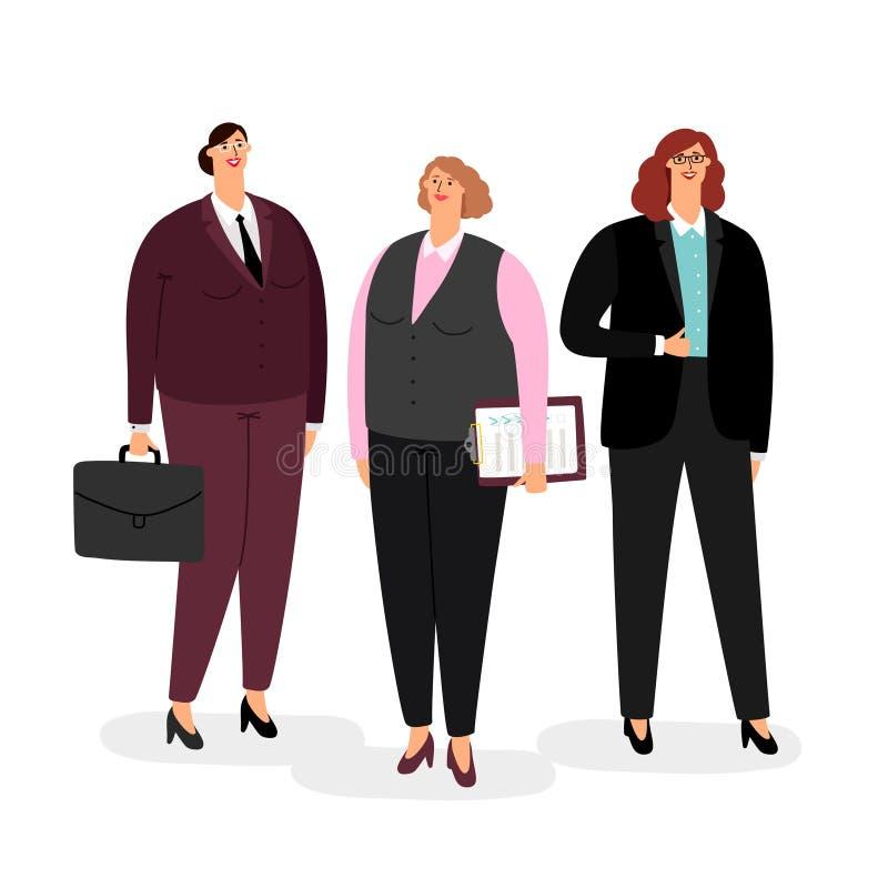 Empresarias fijadas en blanco libre illustration