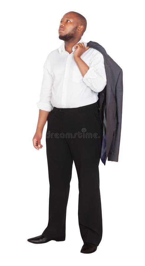 Empresario africano con traje negro fotos de archivo