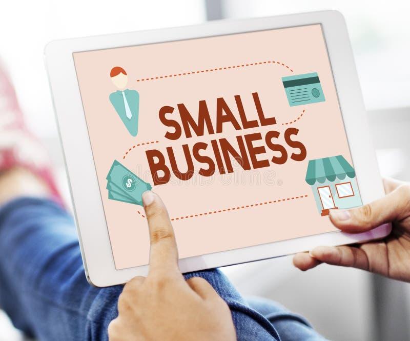 Empresario Conc de la propiedad de los productos del mercado muy especializado de la pequeña empresa imagen de archivo