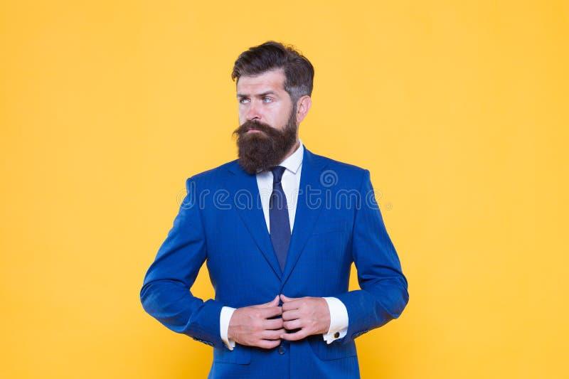 Empresario motivado serio Hombres de negocios Desafíe todo Hombre barbudo hermoso del hombre de negocios confiado adentro fotografía de archivo libre de regalías