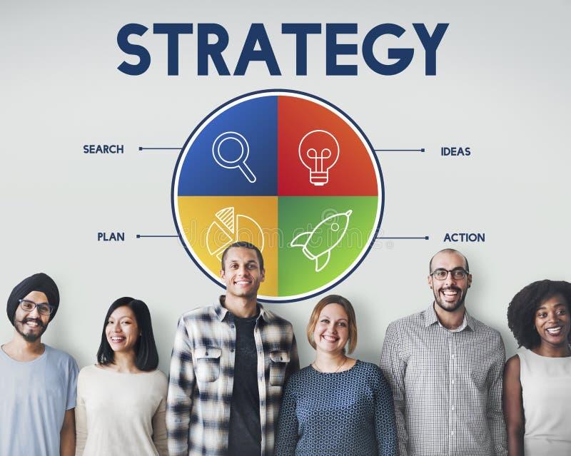 Empresario Strategy Target Concept de la puesta en marcha del negocio fotos de archivo