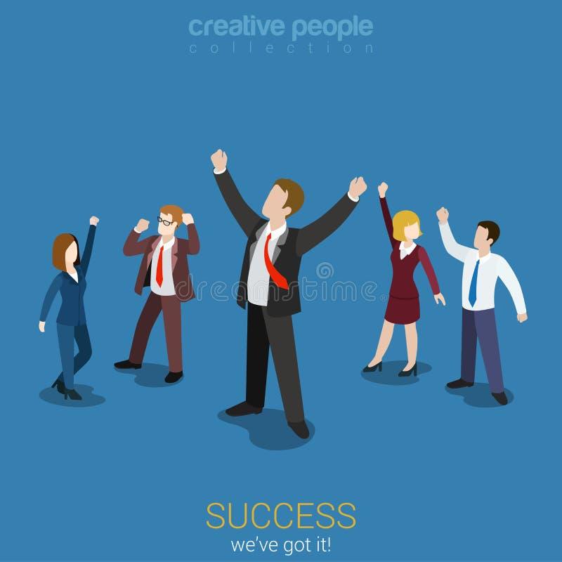 Empresarios acertados felices stock de ilustración