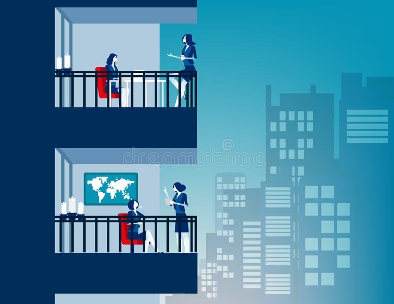 Empresarios con vida laboral en la ciudad Concepto ilustración de vectores empresariales, Lifestyle, Sociedad urbana, Social stock de ilustración