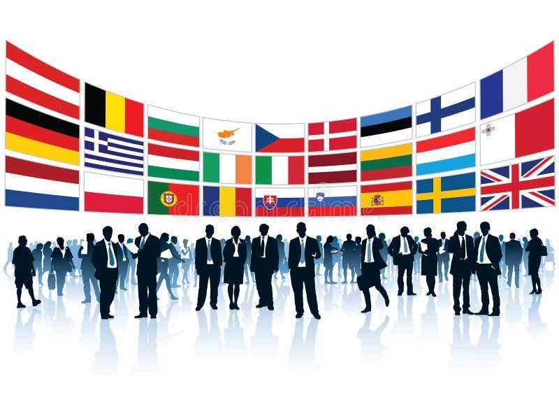Empresarios europeos libre illustration