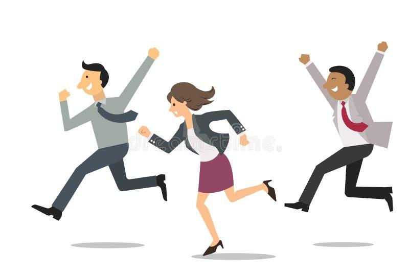 Empresarios felices ilustración del vector