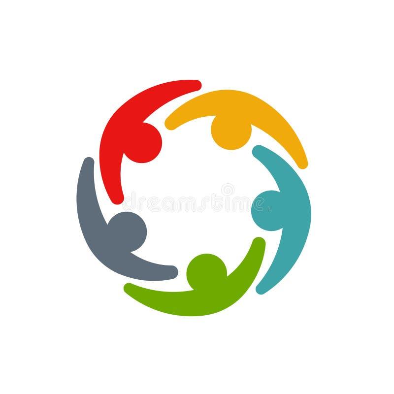 Empresarios y hombres de negocios de la conferencia en círculo ilustración del vector