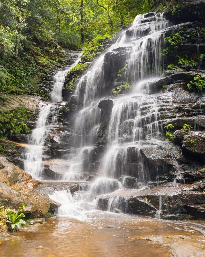 Empress Falls, National Pass Walking Track, Blue Mountains National Park, NSW, Australia royalty free stock image