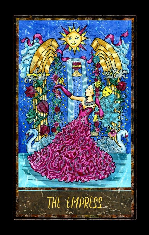 empress Major Arcana Tarot Card illustrazione vettoriale