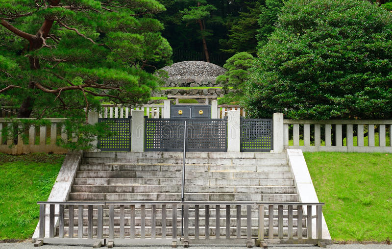 Empress Tenmei`s tomb, Hachioji, Japan. Empress Tenmei`s tomb in Hachioji, Japan stock photo