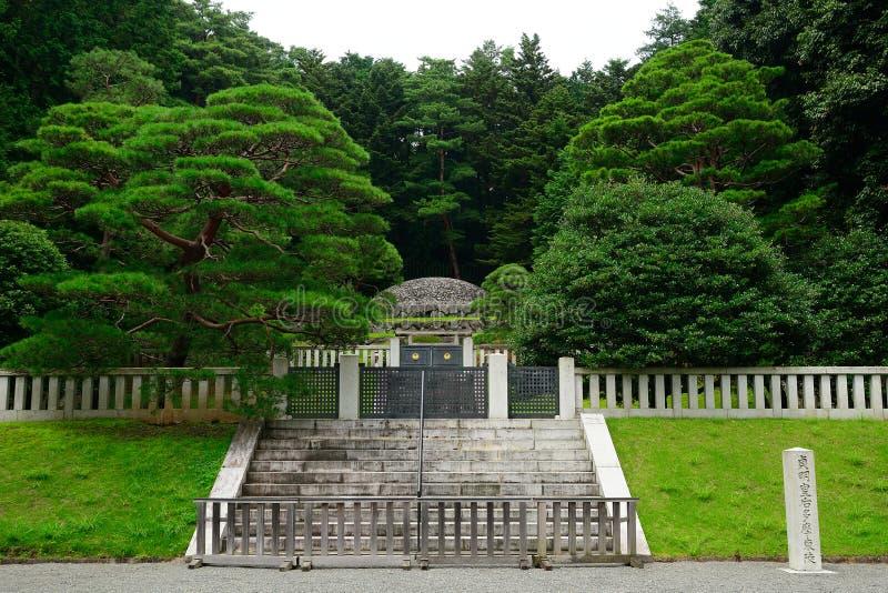Empress Tenmei`s tomb, Hachioji, Japan. Empress Tenmei`s tomb in Hachioji, Japan stock photography
