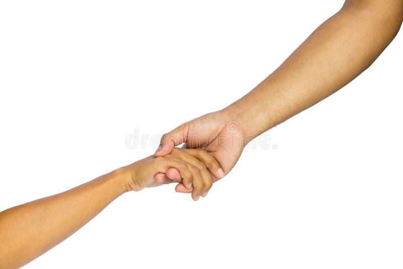 Emprestando uma mão amiga imagens de stock