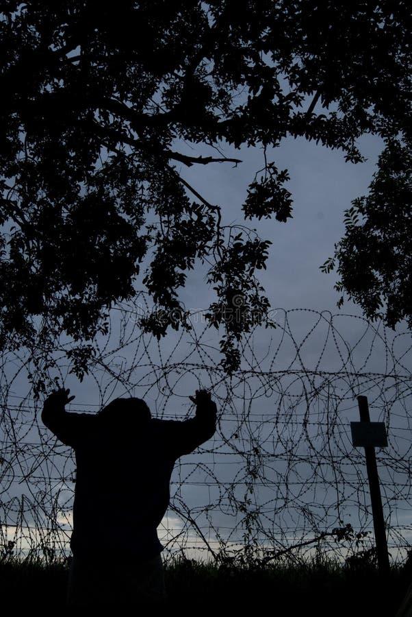 Emprisonné photo stock