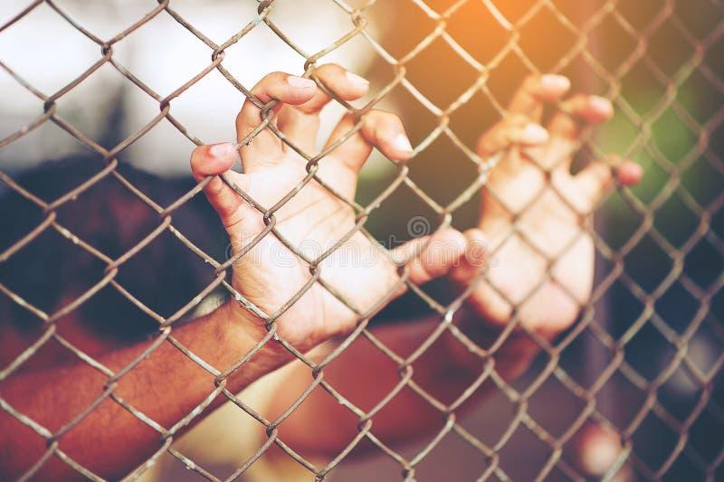 Emprisonnez la détention de la violence images libres de droits