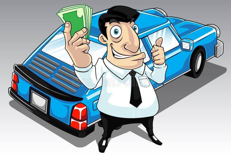Emprunt de véhicule illustration de vecteur