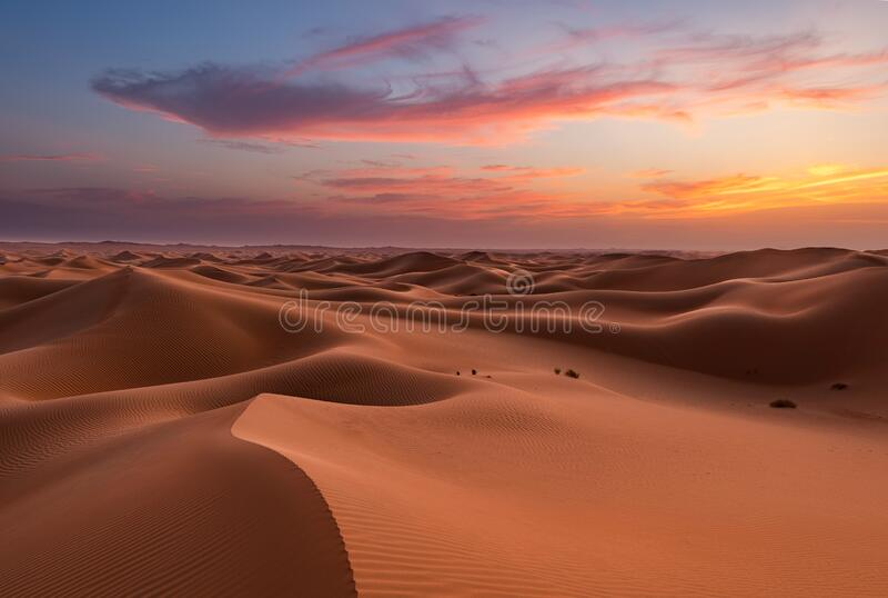 Empter Quarter Desert Dunes w Liwa, Abu Dhabi, Zjednoczone Emiraty Arabskie zdjęcia stock