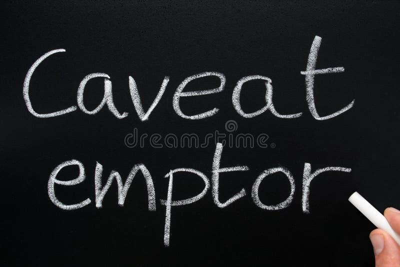 Emptor d'opposition. photographie stock