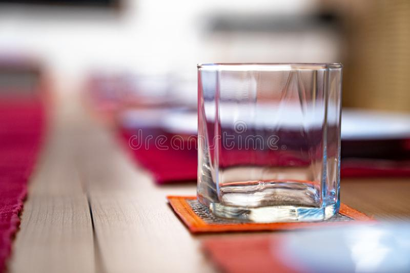 Emptry glasses on the Japanese table style royalty free stock images