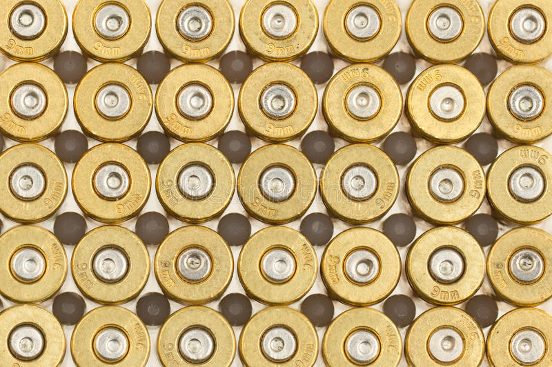 Download Empty 9mm bullet casings stock image. Image of aiming - 26361773