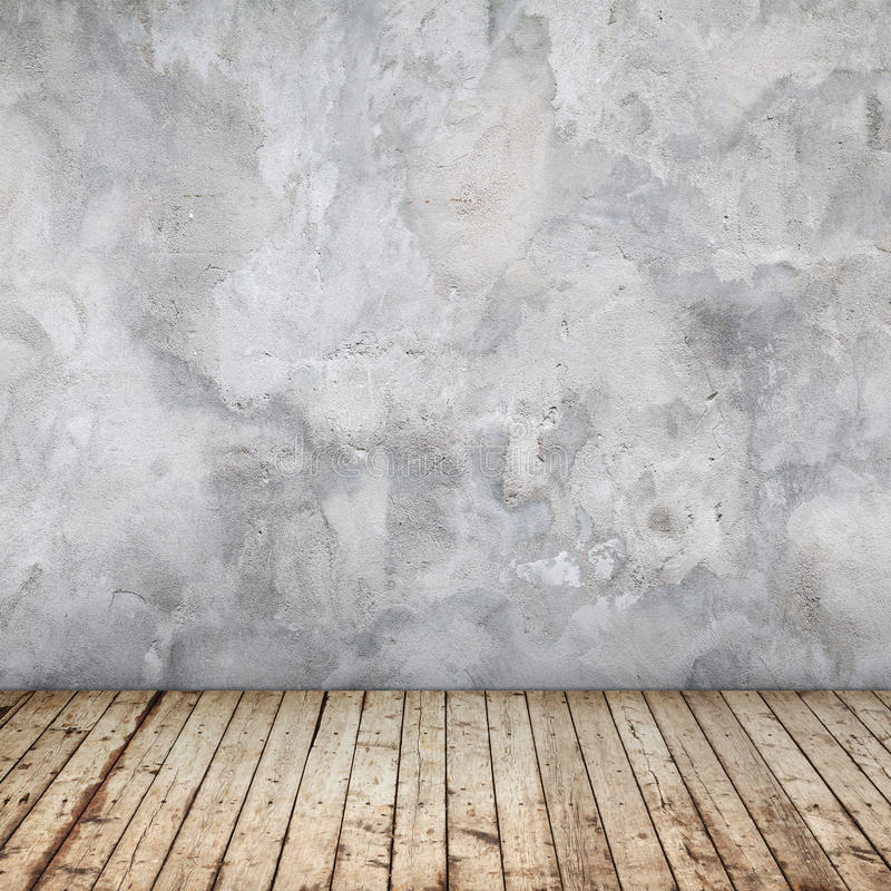 Empty abstract interior with concrete wall stock photo