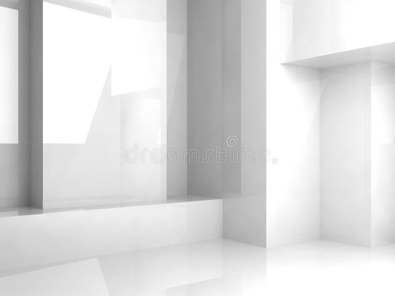 Empty abstract white interior background 3 d royalty free stock photo