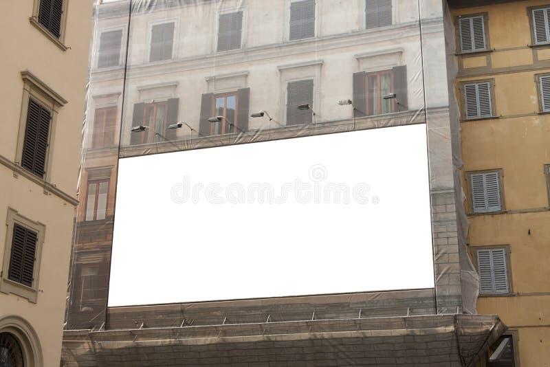 Empty advertisement billboard stock photography