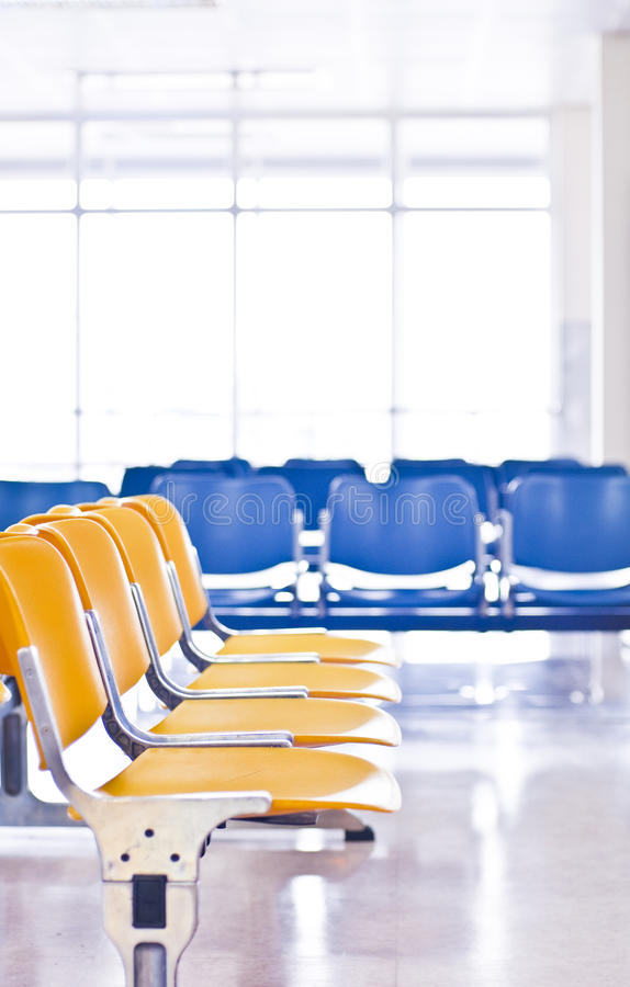 Free Empty Airport Chairs Stock Image - 16347171