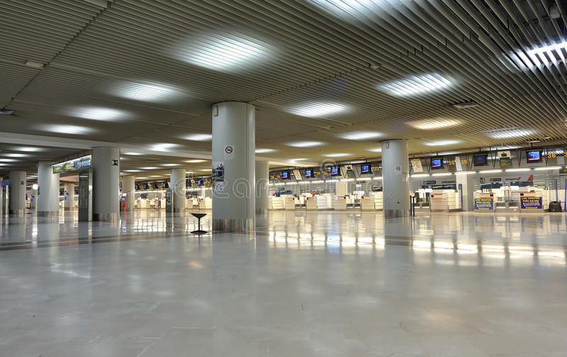 Empty Airport Check-in Editorial Stock Image
